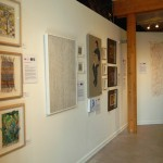 Gallery wall featuring work by Harriet Brigdale, Renate Wilbraham, Sheri Gee, Susan Dodds and Jackie Watkins