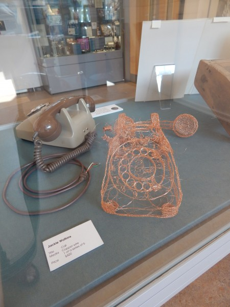 Copper wire telephone by Jackie Watkins