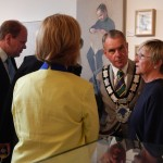 Town councillors at the private view