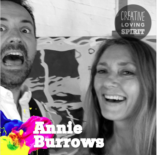 Photo of Annie Burrows with Creative Loving Spirit's Paul Macauley