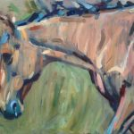 Oil painting of a retired race horse, by Sheri Gee