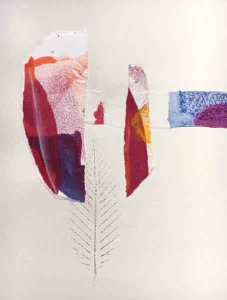 Harriet Brigdale's sketchbook circle piece, close up