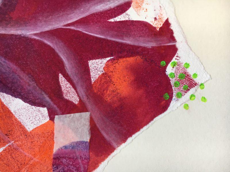Harriet Brigdale's sketchbook circle work, close up 2