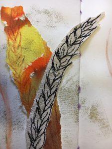Close up of sketchbook, artwork by Renate Wilbrahm